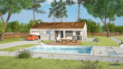 """Modèle de maison  """"Modèle de maison avec terrain en prêt a vivre"""" à partir de 4 pièces Aude par MARCOU HABITAT"""