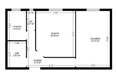 Appartement 2 pièces refait