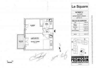 Meyzieu 2 pièces 40,3 m²