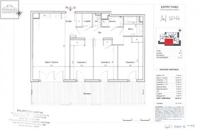 Appartement DARDILLY 4 Pièces 86.3 m²