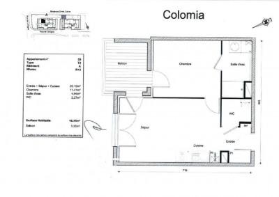 Appartement 2 pièces - 40.44m² - Colomiers Centre