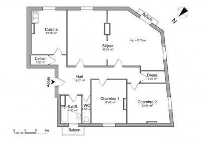 Cours fauriel 4 pièces 102,99 m²