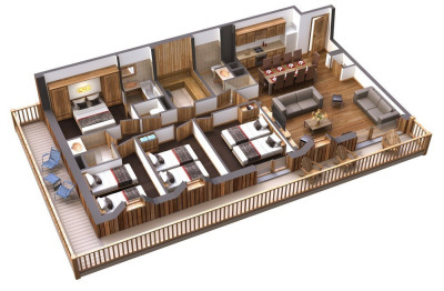 Résidence 5* T5 98m² Terrasse