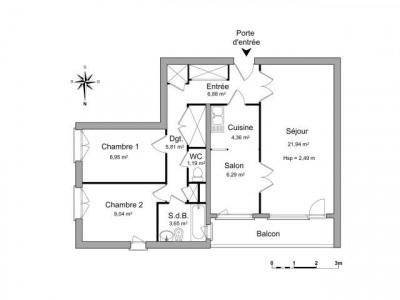 Firminy 3 pièces 72.0 m²