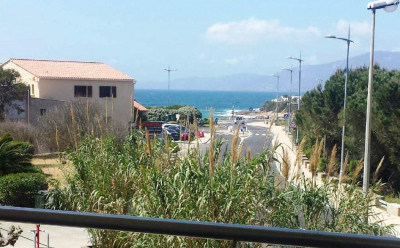 Studio récent, vue mer, terrasses, clim, parking, plage d'Agosta