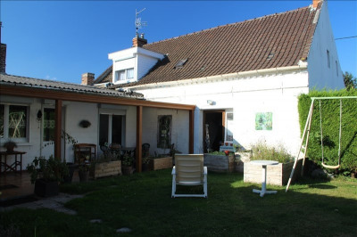 Flamande, jardin, garage