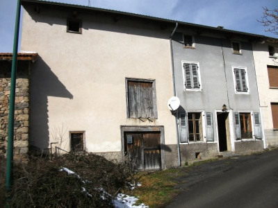 Maison de village avec terrain plus grange séparée