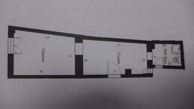 Appartement Paris 1 pièce (s) 19.54 m²