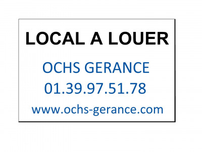 A louer local commercial centre ville herblay