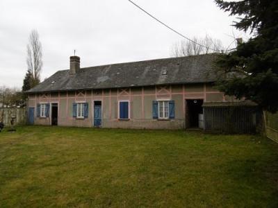 Maison picarde à rénover 2 chambres sur 1265m² de terrain