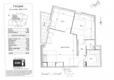 Location appartement Lyon 7ème (69007)
