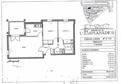 Appartement T3 60m² perget-monturon colomiers