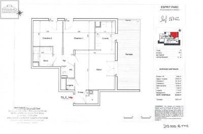 Appartement DARDILLY 3 Pièces 63.6 m²
