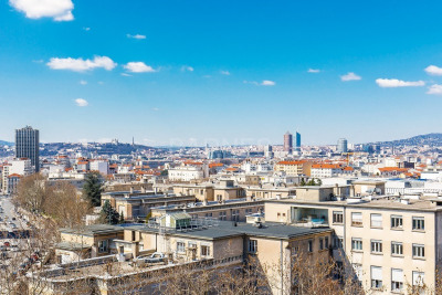 EXCLUSIVE RIGHTS - LYON 3 - APARTMENT OF 1,442 SQ.FT - SUPERB VIEW ON LYON - 4 BEDROOMS
