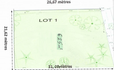 Terrain plat 625m² Saint-Maurice-Montcouronne