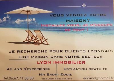 Recherche maison sur Villeurbanne ou Lyon 8ème