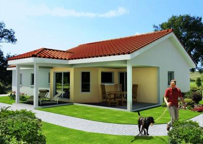 """Modèle de maison  """"Maison 75 m² à polliat"""" à partir de 5 pièces Ain par ETUDES CONCEPTS REALISATIONS"""