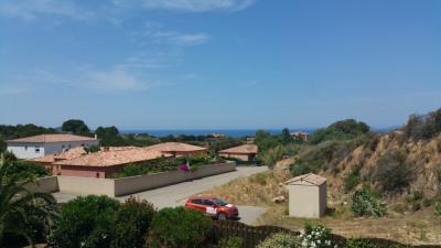 Villa récente pte vue mer piscine prox de la plage d'Agosta