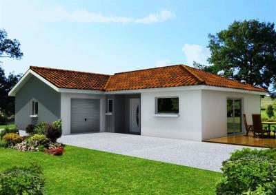 """Modèle de maison  """"Maison 75 m² à meillonnas"""" à partir de 5 pièces Ain par ETUDES CONCEPTS REALISATIONS"""