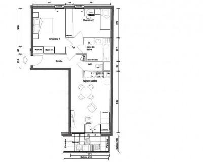 Appartement de type 4 de 62m² sur oullins