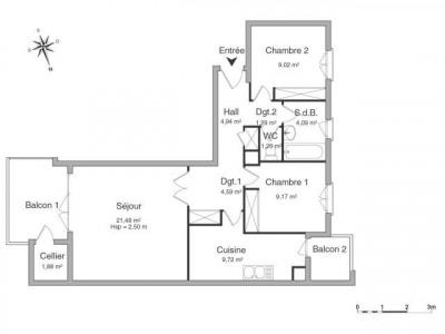 3 pièces 66.0 m²