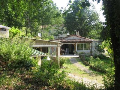 Maison avec terrain boisé