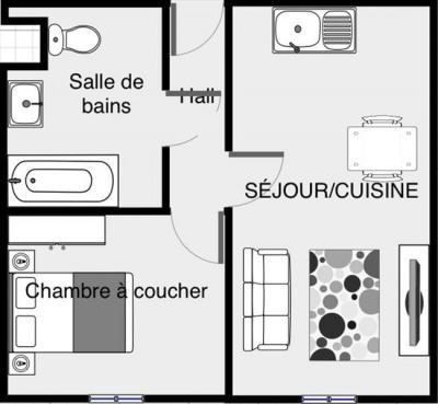 Appartement 2pièces 32m²