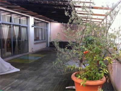 T3 loft meublé avec terrasse - cours vitton- franklin roosevelt