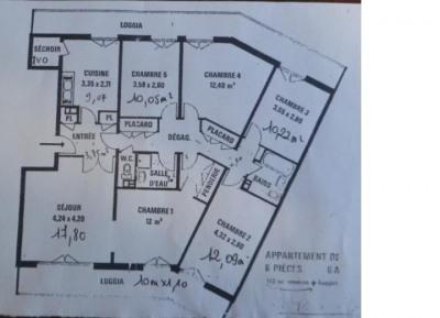 APPARTEMENTre fait à neuf 5 CHAMBRES cave ENTIÈREMENT MEUBLE ET ÉQUIPÉ confortablement. Conviendrait à un ...