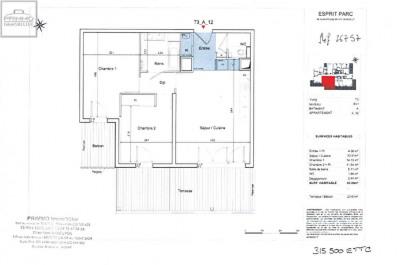 Appartement DARDILLY 3 Pièces 63.3 m²