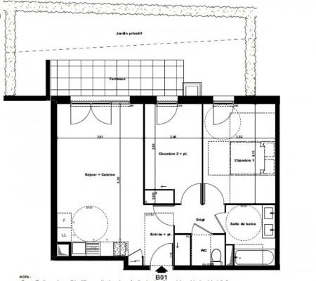 Vente - Appartement 3 pièces - 59 m2 - Cannes - Photo