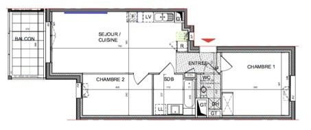 Sale apartment Dardilly 292500€ - Picture 3
