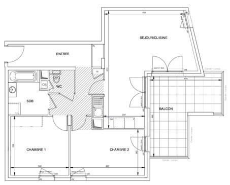 Sale apartment Lyon 9ème 351000€ - Picture 1