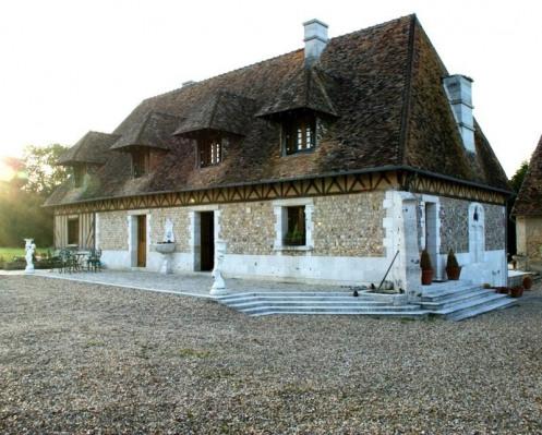 Venta de prestigio  - casa solariega 7 habitaciones - 270 m2 - Le Neubourg - Façade principale - Photo