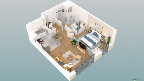 New home sale - Programme - Beauvais - Le Franc Marché appartements neufs Beauvais centre-ville hyper centre BBC RT2012 programme PINEL LK PROMOTION Louis Kotarski Oise E108 - Photo