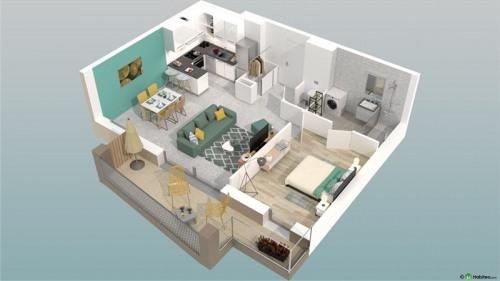 Vente - Appartement 2 pièces - 47 m2 - Poisy - Photo