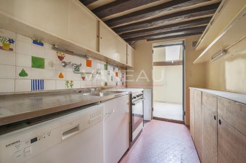Престижная продажа - квартирa 3 комнаты - 90 m2 - Paris 4ème - Cuisine - Photo