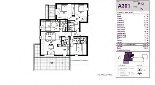 Vente de prestige - Appartement 5 pièces - 134 m2 - Anglet - Photo