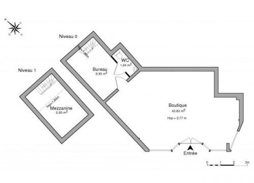 Alquiler  - Tienda - 58 m2 - Chartres - Photo