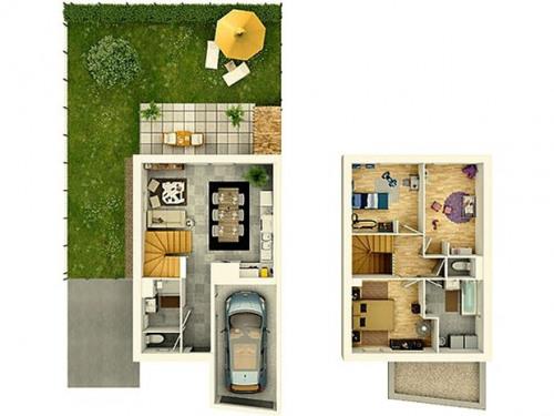 Verkoop  - Huis 4 Vertrekken - 78 m2 - Mûrs Erigné - Photo