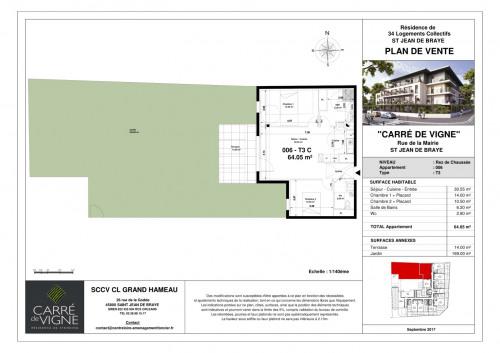 Investment property - Apartment 3 rooms - 64.05 m2 - Saint Jean de Braye - Photo