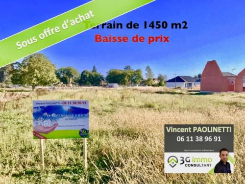 Vente - Terrain - 1455 m2 - Pardies - Photo