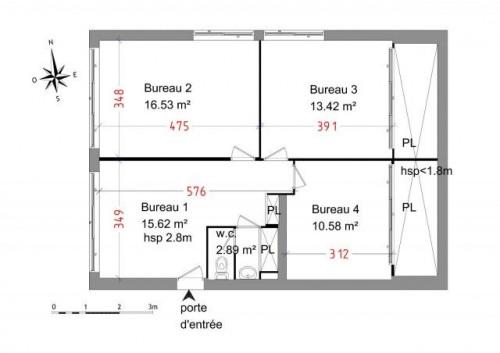 Rental - Empty room/Storage - 58 m2 - Beregovoye - Photo