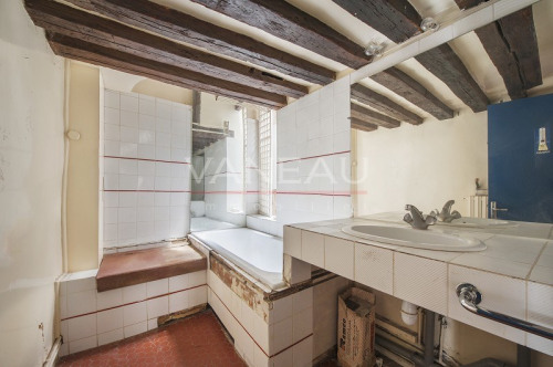 Престижная продажа - квартирa 3 комнаты - 90 m2 - Paris 4ème - Salle de bains - Photo