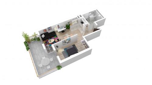 Produit d'investissement - Appartement 5 pièces - 94,31 m2 - Bondy - Appartement T2avec terrasse L599-401 - Photo