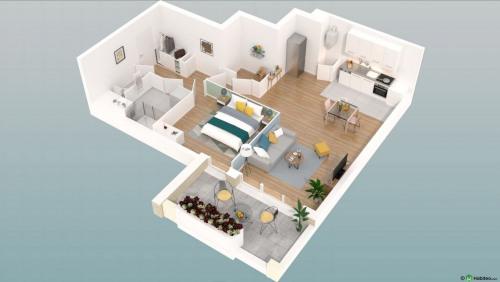 New home sale - Programme - Beauvais - Le Franc Marché appartements neufs Beauvais centre-ville hyper centre BBC RT2012 programme PINEL LK PROMOTION Louis Kotarski Oise E301 - Photo