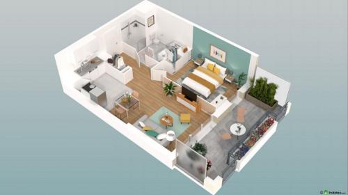 New home sale - Programme - Beauvais - Le Franc Marché appartements neufs Beauvais centre-ville hyper centre BBC RT2012 programme PINEL LK PROMOTION Louis Kotarski Oise E308 - Photo