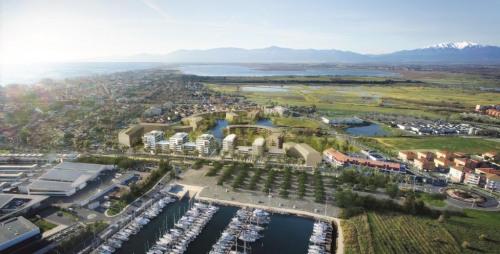 新房出售 - Programme - Canet Plage - Bleu d'Ancre - vue aérienne sur le port de plaisance de Canet-Plage - Photo