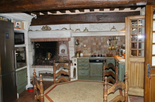 Venta de prestigio  - casa solariega 7 habitaciones - 270 m2 - Le Neubourg - Cuisine espace repas - Photo