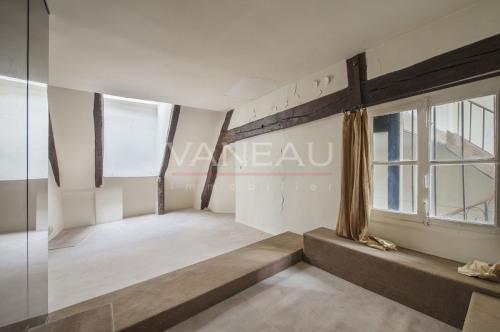 Престижная продажа - квартирa 3 комнаты - 90 m2 - Paris 4ème - Chambre - Photo